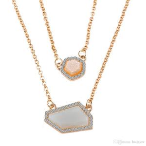 قلادات المعلقات الذهب قلادة سلسلة السلاحف حجر الراين الهيب هوب الأحجار الكريمة سلاسل سلاسل الذهب