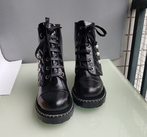 Hot Sale- designer shoes fashion boots wome's shoes boots fashion shoes closure Martin boots Pearl decoration with lether