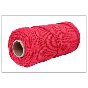 100M 4 milímetros Colorful Woven fio de algodão Rope Macrame cabo trançado trançado artesanatos Acessórios Materiais