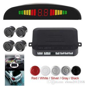 Автомобиль авто Автомобиль обратный резервная радиолокационная система с 4 датчиками парковки определение расстояния и светодиодный дисплей расстояния звуковое предупреждение
