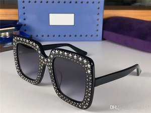 Hot new fashion outdoor protection sunglasses 0148 crystal stars diamond square frame avant-garde design style top quality