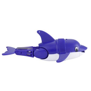 Funny Cute Lovely Flexible Children Kids Bathing Toy Blue Dolphin Diving Fish Swimming with Tail Angle adjustable