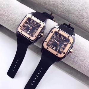 2020 Erkek Kadın Saatler Top Marka Lüks İş Kuvars İzle paslanmaz çelik kauçuk Kayış Saat Erkekler Su geçirmez saatler Relojes Hombre