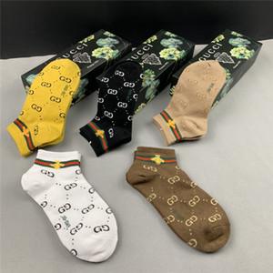 GUCCI SS20 nueva llegada de calidad superior diseñador cuadro de calcetines Una Hombres de 5 pares de calcetines mujeres de la marca # 005