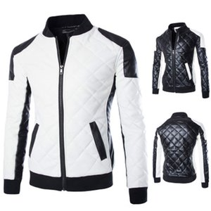 2020 New design Motorcycle Bomber Leather Jacket Men Autumn Turn-down Collar Slim fit Male Leather Jacket Coats Plus Size M-5XL
