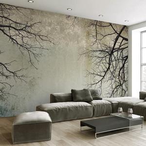 3D Wallpaper Creative Abstract Home Decor Nordic Style Tree Branches Sky Papel De Parede Desktop Mural Wallpaper