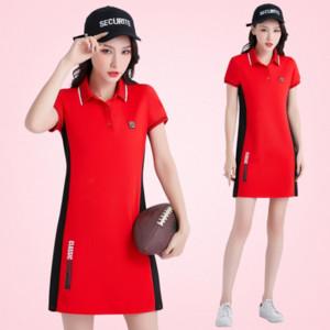 2019 Duan Xiu langer T-Shirt Sportkleid der Frauen im Freien beiläufigen Tennis Wollknäuel Badminton Tennis Badminton Rock