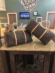 2019 nuevos hombres de la moda las mujeres bolsa de lona bolsa de viaje, bolsos de equipaje diseñador de la marca bolsa grande de deporte de la capacidad 55CM