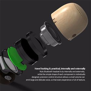 Bluetooth forma bonito Nut alto-falante portátil de madeira elegante subwoofer Mini sem fio Bluetooth Nut Speaker Presentes Viagem Backpack