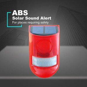 Solar Som Alerta flash de aviso 110 decibéis de som Luz Alarme Sensor de Movimento Siren Strobe Sistema de Segurança para Farm IP65