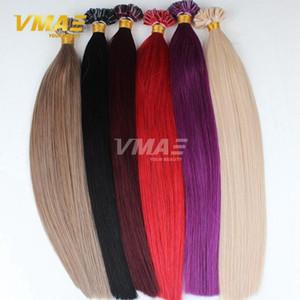 VMAE бразильского кератина Fusion Pre скрепленные Straight Все цвета Natural 613 Blonde Красный Пурпурный волос девственницы U ногтей Совет человеческих волос