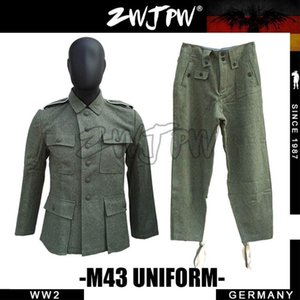 German M43 WH SS FIELD-GRAY WOOL JACKET and TROUSERS UNIFORM DE / 505102