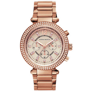 Mujeres Rhinestones Relojes de Primeras Marcas de Lujo Moda de Negocios Mujer Diamante Casual Cuarzo Reloj de pulsera Impermeable Relogio Feminino Y19062402