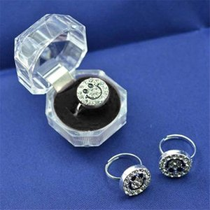 Plastik Şeffaf Mücevher Kutusu Yüzük Küpe Kolye Boncuk Vaka Hediye Kutusu Takı Depolama Ambalaj Organizer Display