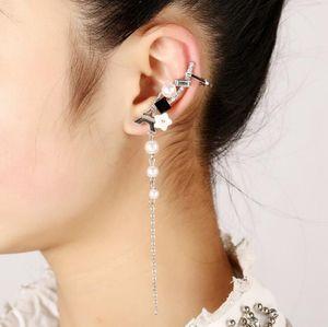 Livraison gratuite Mixed 20pcs alliage personnalité femmes diamants cristal Boucles d'oreilles clips oreille broches d'oreille Dance Party Lolita Punk Skull Bijoux 57