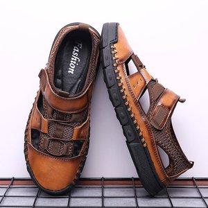 Vogue Hommes Sandales d'été Chaussures Hommes respirant Plage Tendance Sport Solide Chaussons d'extérieur de grande taille Flat Casual sauvage Jun21