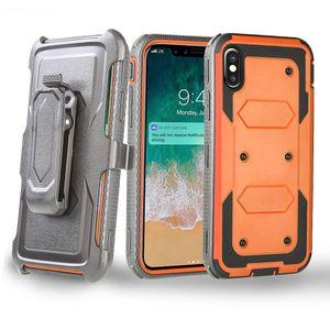 Pour Moto G7 G8 Jouer REVVLRY T-Mobile G6PLAY G5PLUS G4PLUS Clip ceinture Holster plein corps robuste Protection robuste Cas de téléphone