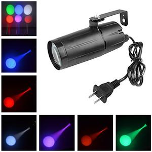 AUCD Mini 3W LED a colori a binario singolo Negozio di luci Art Decor Proiettori Faretti Lampada a fascio Festa per la casa DJ Spettacolo di luci di scena LE-M02