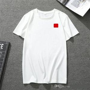 2020 nueva mens camiseta euro americano populares pequeño corazón rojo impresión de camiseta hombres parejas de mujeres camiseta
