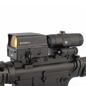 Tactical UH-1 Holographic Scope Red Dot Sight + VMX-3T Sight 3X Lupe mit Flip Berg
