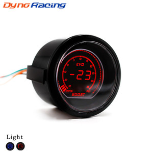 52 millimetri 2 pollici auto EVO digitale Turbo Boost Gauge Red LCD Turbo Psi blu / Boost Meter con sensore TT101031
