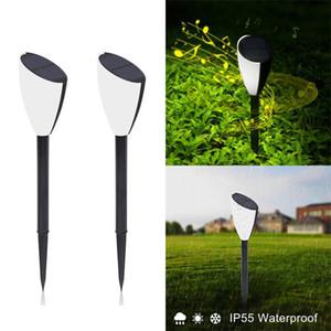 Solar-Rasen-Lampe mit Musik und Klängen Dual Weiß Beleuchtung schaltbar Insekt Solargartenlampe Landschaft Weihnachten Lampe