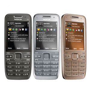 الأصلي تجديد لوحة المفاتيح الهاتف المحمول نوكيا E52 بلوتوث WIFI GPS 3G 3.0MP كاميرا العبرية العربية الإنجليزية الروسية