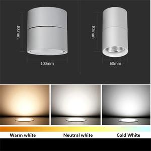 85-265Vac 입력 3W / 5W / 7W // 10W / 12W LED 표면 장착 천장 조명, 접이식 및 360도 회전 COB 배경 스포트 라이트
