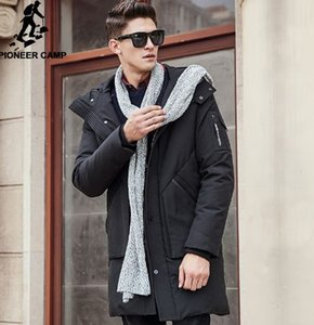 Pioneer Camp Thick winter down jacket men warm waterproof clothing Top quality Long Male 90% White duck down coat 611607