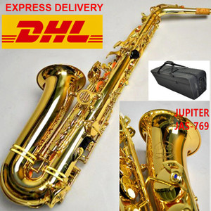 جديد JUPITER JAS-769 Alto Saxophone Eb Tune Gold Lacquer Sax with Case DHL POST