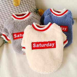 Pet köpek kedi sonbahar ve kış yeni Teddy bear giysi İngilizce Etiket Postu ekip boyun gömlek Giyim