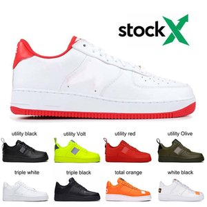 Dunk 1 One Men Women Running Shoes Platform Sneakers QS FO Utility black White Flax JDI Low High Cut Triple a Skateboarding Trainers
