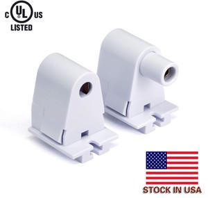 Holder In magazzino USA + Fine connettore Fa8 T8 ha condotto il tubo luce della lampada singola Pin Musone Una primavera MOLLA uno fisso (non -Spring) End