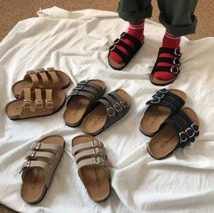Crianças Cork Sandles Chinelos verão fresco Sólidos sandálias de praia antiderrapante Chinelos meninas Casual Chinelos Sandálias Calçados Crianças Calçados CYP675