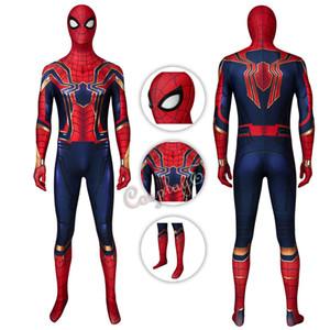 Железный Человек-паук костюм Spider-Man: Far From Home Cosplay Питера Паркера Полный комплект