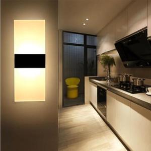 Muro Modern LED Lighting Up Down Cube Interior Exterior Quarto Sconce Lamp Fixação
