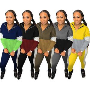 mujer de deportes de camisa de manga larga trajes pantalón camisa de dos piezas conjunto flacos de las medias juego del deporte de los pantalones de jersey klw2864 venta caliente