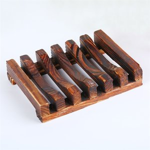 Natural de bambú protección del medio ambiente y jabón hecho a mano en madera estante cuarto de baño suministros domésticos de almacenamiento en rack de jabón T3I5221