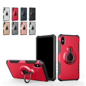 Marque nouvelle 2 en 1 Armure antichocs anneau de voiture Téléphone couvercle arrière anneau de cas de doigt pour iPhone 6 7 8 xs xr max pour iPhone 11 pro max pour Samsung