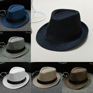 New Classic Herren Damen Stroh-Fedora-Hut Caps Sonnenhüte Wide Brim Panama-Hut-Sommer Kleid Hut Zubehör