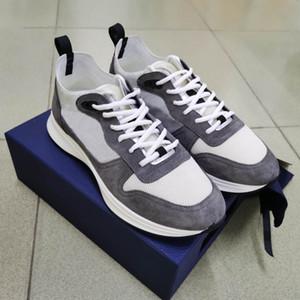 Uomini B25 Oblique Runner Sneaker piattaforma scarpe da donna Mesh formatori superiore in pelle scamosciata Bianco Nero Lace-up dei pattini casuali con la scatola.