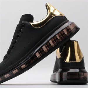 2020 caliente clásico! Zapatos de los zapatos del diseñador de aire mujeres de la estrella de la vendimia plataforma de zapatos de diseño sirve pareja de oro de triple oro size35-44 cola