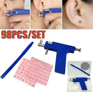 Großhandelsberufs Körper-Nasen-Piercing Gun Machine Tool Kit Set + 98pcs Studs Piercing Das Ohr Guns-Werkzeug-Set Hot Selling