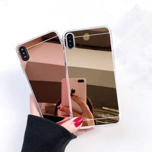 Ultra Thin Mirror Clear tpu Soft Protective Phone Cover for Iphone 6 plus 7 8plus x XR Xs Max 11 11 Pro Max Samsung S10 Note 10