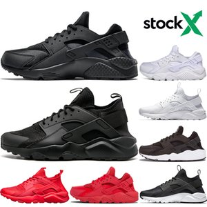 Stock X Huarache I Running shoes Men Women Sports Shoes Triple Black White Gold Huraches 1.0 4.0 Womens Mens Desinger Sneakers