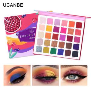 UCANBE 30 الألوان الفاكهة فطيرة تعبئة لوحة ظلال العيون ماكياج كيت مشرق بريق لامع لامع ظلال ظلال صبغات