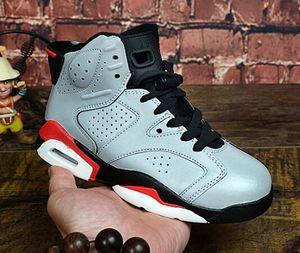 Kids Shoes Athletic bambini J6 PSG scarpe da basket 3M refletive Grey 6S sneakers sport per Boy ragazza del bambino Chaussures Eur28-35