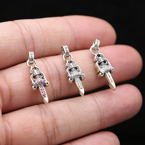 925 boucles d'oreilles en argent marque américaine concepteur européenne a fait main pendentifs épée d'argent antique de boucles d'oreille pour les femmes hommes
