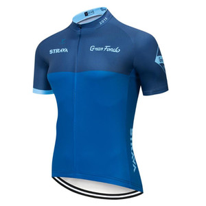 STRAVA 2019 Mountain Bike Cycling Jersey Shirt Summer Breathable Cycling Clothing Pro Team MTB Bicycle Jersey Top