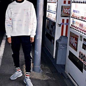 Fashion- Westen Season5 x EDR CALABASAS Von Hand gezeichnet Doodles Pullover lose beiläufige Art und Weise Hip-Hop Street Sport sweartshirt M-XL HFLSWY084